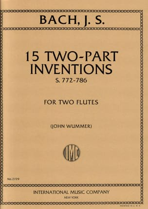 15 Two-parts Inventions – 2 flutes – - laflutedepan.com