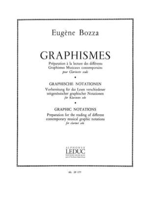 Eugène Bozza - Graphics - Clarinet - Sheet Music - di-arezzo.co.uk
