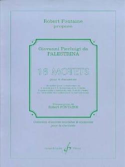 Giovanni Pierluigi da Palestrina - 18 Motets pour 4 Clarinettes - Partition - di-arezzo.fr