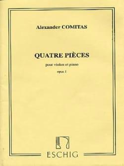 4 Pièces op. 1 - Alexander Comitas - Partition - laflutedepan.com