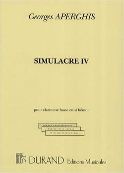 Simulacre 4 Georges Aperghis Partition Clarinette - laflutedepan