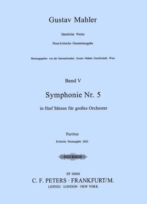 Symphonie Nr. 5 - Partitur MAHLER Partition laflutedepan