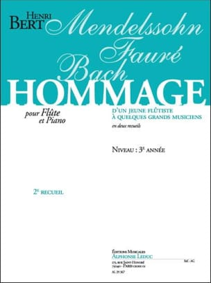 Henri Bert - Tribute of a young flutist ... - Volume 2 - Sheet Music - di-arezzo.co.uk