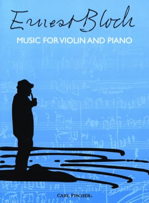 Music for violin and piano BLOCH Partition Violon - laflutedepan