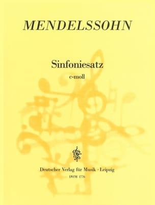 Sinfoniesatz c-moll - Partitur MENDELSSOHN Partition laflutedepan