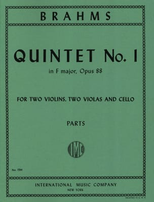 Quintet n° 1 in F major op. 88 - Parts BRAHMS Partition laflutedepan