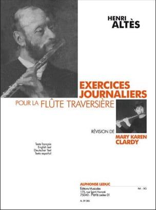 Exercices journaliers pour la flûte Henry Altès Partition laflutedepan