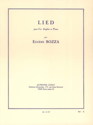 Lied - cor anglais et piano Eugène Bozza Partition laflutedepan