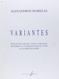 Variantes - Alexandros Markeas - Partition - Trios - laflutedepan.com