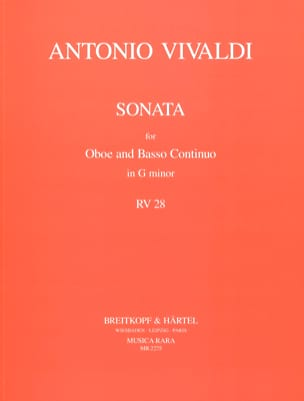 Antonio Vivaldi - Sonate in g minor RV 28 – hautbois et Basse continue - Partition - di-arezzo.fr