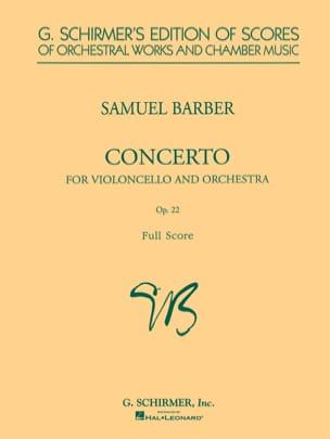 Samuel Barber - Cello Concerto and Orchestra op. 22 - Sheet Music - di-arezzo.co.uk