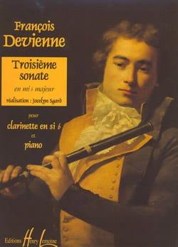 3ème Sonate en Mib Majeur DEVIENNE Partition Clarinette - laflutedepan