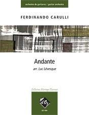 Ferdinando Carulli - Andante - Partition - di-arezzo.fr