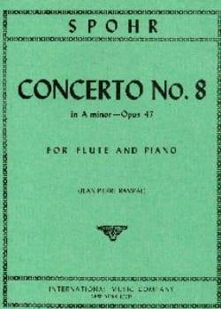 Concerto N°8 En la Min. Op.47 Spohr Partition laflutedepan