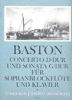 Concerto D-Dur und Sonata G-Dur - Sopranblockflöte Klavier laflutedepan