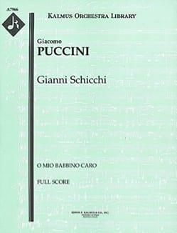 Giacomo Puccini - O mio babbino caro - Score - Partition - di-arezzo.co.uk