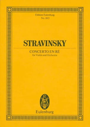 Igor Stravinsky - Violin Concerto in D M. 1931 - Conductor - Partition - di-arezzo.co.uk