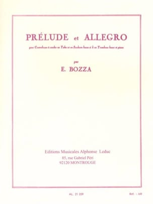 Eugène Bozza - Prelude and Allegro - Sheet Music - di-arezzo.com