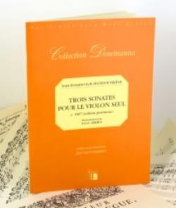 3 Sonates Pour le Violon Seul 1807 - laflutedepan.com