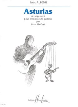 Asturias - Ensemble de guitares ALBENIZ Partition laflutedepan