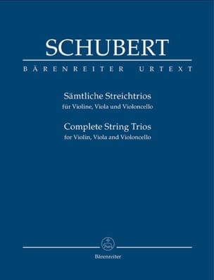SCHUBERT - Complete String Trios - Conducteur - Partition - di-arezzo.fr