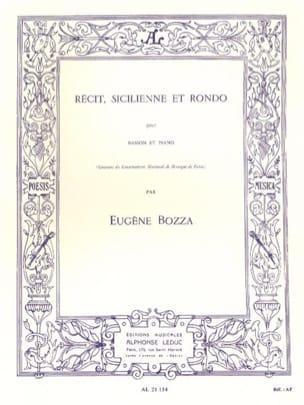Eugène Bozza - Récit, Sicilienne et Rondo - Partition - di-arezzo.fr