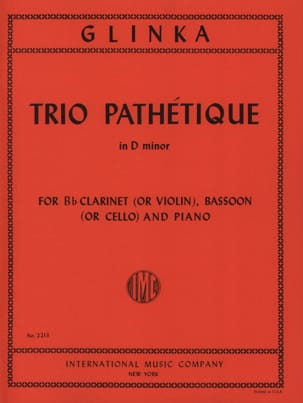 Michail Glinka - Pathetic Trio in D minor - Clarinet bassoon piano - Sheet Music - di-arezzo.com