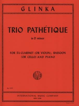 Michail Glinka - Pathetic Trio in D minor - Clarinet bassoon piano - Sheet Music - di-arezzo.co.uk