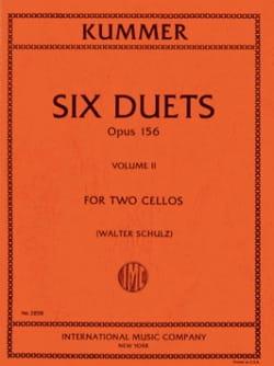 6 Duos op. 156 Volume 2 Friedrich-August Kummer Partition laflutedepan