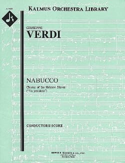 VERDI - Nabucco, Chorus of Hebrew Slaves - Score - Partition - di-arezzo.fr