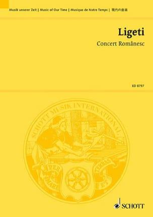 György Ligeti - Concert Romanesc - Partition - di-arezzo.fr
