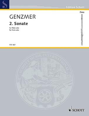 Harald Genzmer - Sonate Nr. 2 - Flöte solo - Partition - di-arezzo.fr