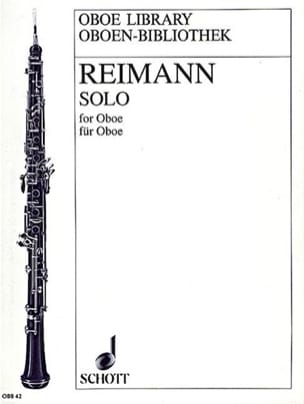 Solo for Oboe Aribert Reimann Partition Hautbois - laflutedepan