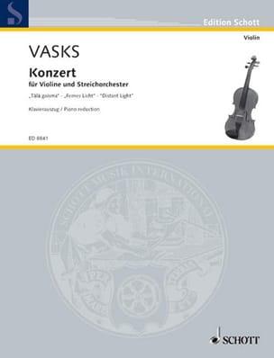 Peteris Vasks - Concerto Distant Light - Violon - Partition - di-arezzo.fr