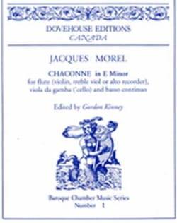 Jacques Morel - Chaconne En Mi Min. 1709 - Partition - di-arezzo.fr