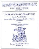 Sonate La Félicité - Louis Nicolas Clérambault - laflutedepan.com