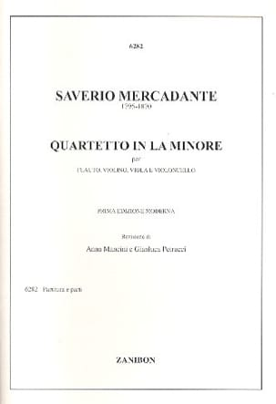 Saverio Mercadante - Quartetto in la minore – flauto violino viola violoncello - Partition - di-arezzo.fr