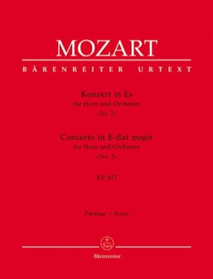Hornkonzert Nr. 2 Es-Dur KV 417 – Partitur - laflutedepan.com