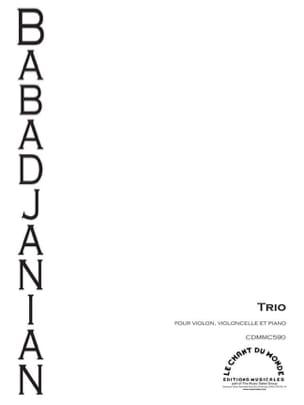 Arno Babadjanian - Trio pour piano, violon et violoncelle - Partition - di-arezzo.fr