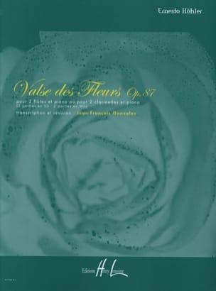 Valse des Fleurs op. 87 Ernesto KÖHLER Partition Trios - laflutedepan