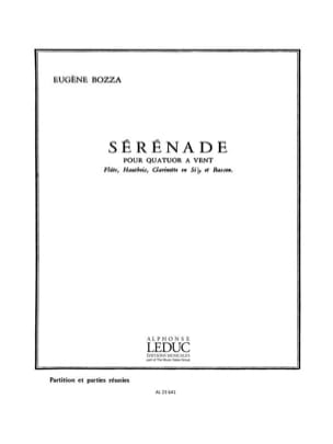Eugène Bozza - Serenade - Wind Quartet - Partition Parts - Sheet Music - di-arezzo.com