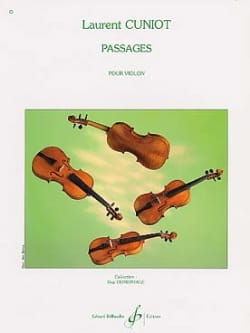 Passages - Laurent Cuniot - Partition - Violon - laflutedepan.com