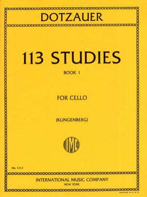 Friedrich Dotzauer - 113 Studies - Book 1 1-34 - Sheet Music - di-arezzo.com