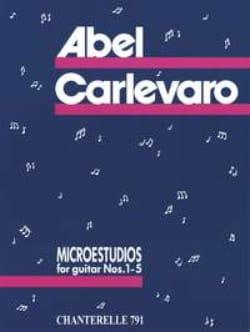 Microestudios n° 1-5 - Abel Carlevaro - Partition - laflutedepan.com