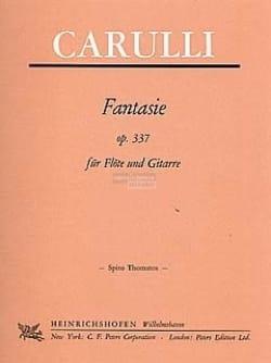 Ferdinando Carulli - Fantaisie Op. 337 - Partition - di-arezzo.fr