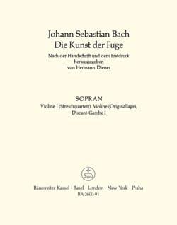 Johann Sebastian Bach - L'art de la fugue - Partition - di-arezzo.fr