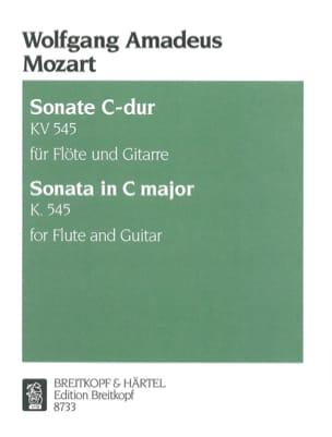 Sonate C-Dur KV 545 - Flöte Gitarre MOZART Partition laflutedepan