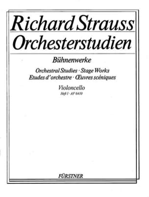 Richard Strauss - Orchesterstudien - Heft 1 Cello - Sheet Music - di-arezzo.com