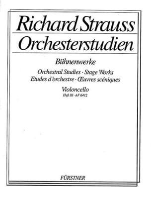 Orchesterstudien - Heft 3 Cello Richard Strauss Partition laflutedepan