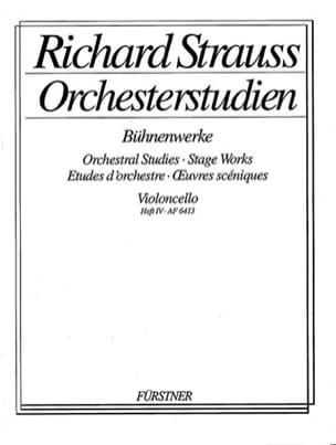 Orchesterstudien - Heft 4 Cello Richard Strauss Partition laflutedepan